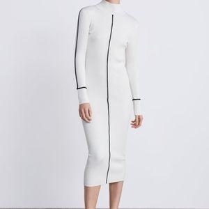 NWT, ZARA Ribbed Bodycon Dress